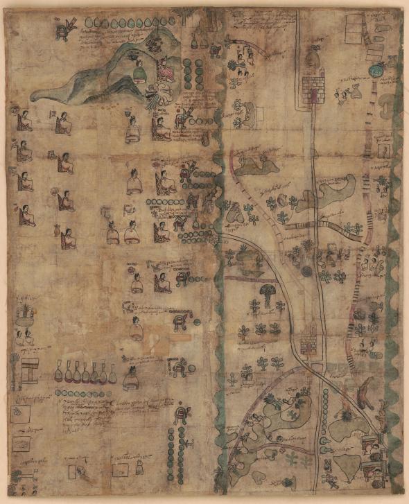 แผนที่เก่าชาวแอซเท็ก