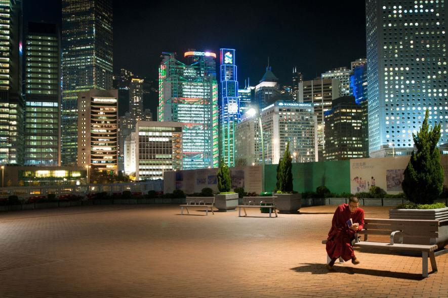 ภาพถ่ายตอนกลางคืนในฮ่องกง