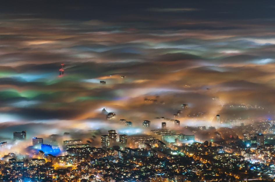 ภาพถ่ายตอนกลางคืนในบัลแกเรีย