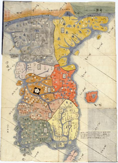 แผนที่เก่าคาบสมุทรเกาหลี