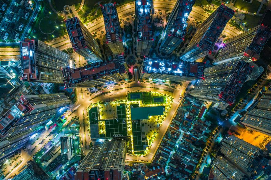 ภาพถ่ายตอนกลางคืนในนครโฮจิมินห์