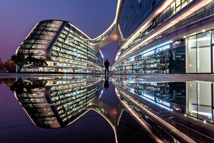 ภาพถ่ายตอนกลางคืนในเซียงไฮ้