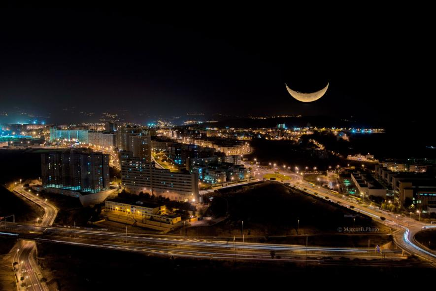ภาพถ่ายตอนกลางคืนในสเปน