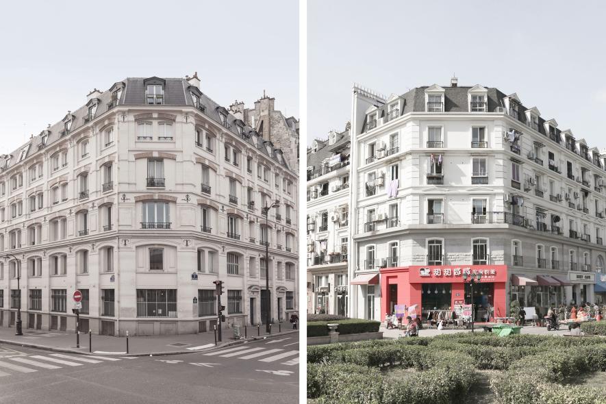 อาคารในกรุงปารีสปลอม