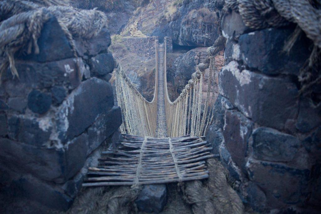 สะพานเชือกชาวอินคา สะพานเกสวาชาก้า สะพานแห่งสุดท้ายในยุคสมัยของอารยธรรมอินคา
