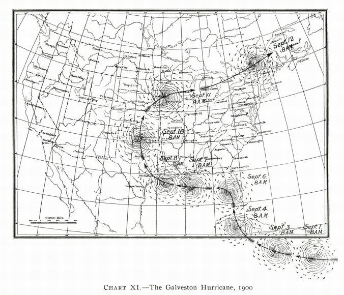 แผนที่การเดินทางของพายุเฮอร์ริเคน
