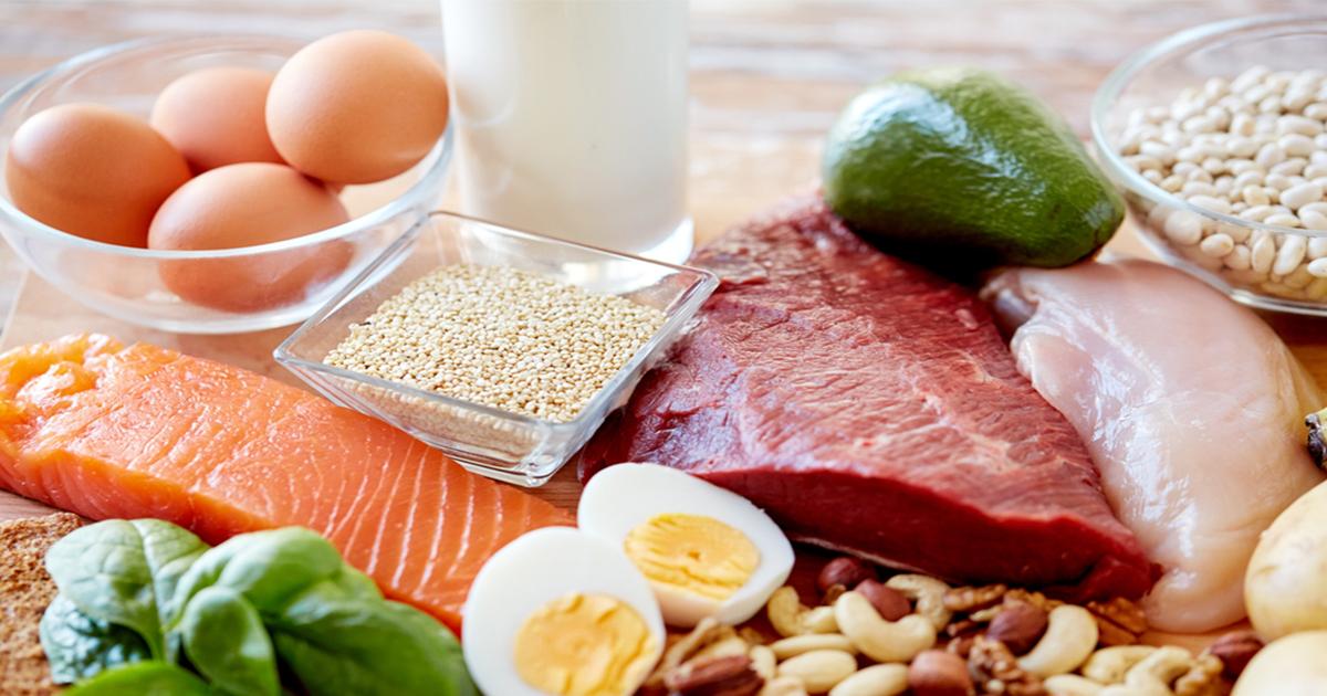 โปรตีน, สารอาหาร, สารอาหารที่มห้พลังงาน, เนื้อสัตว์, นม, ไข่