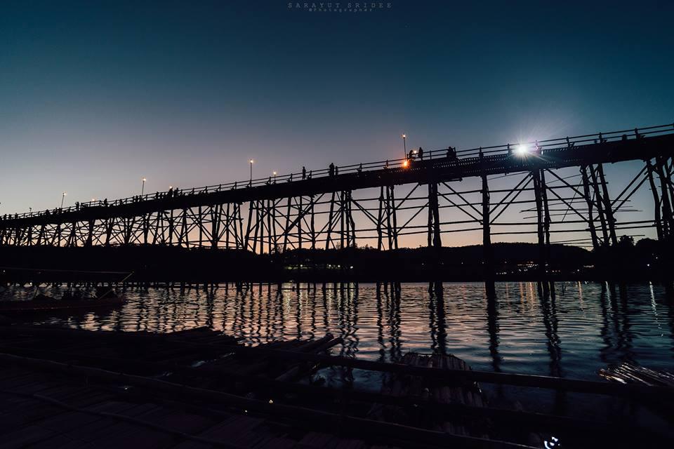 ที่เที่ยวสังขละบุรี, สะพานมอญ, สะพานไม้, สังขละบุรี, กาญจนบุรี