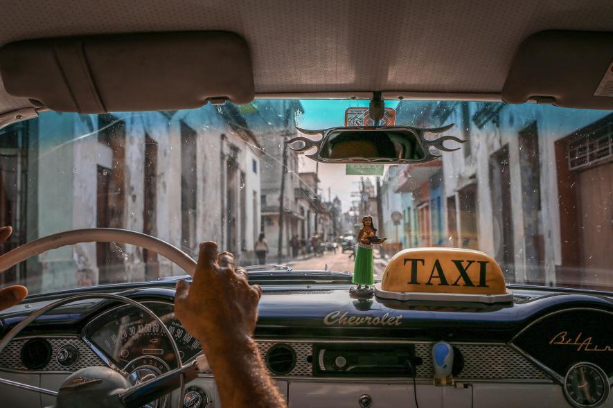 รถแท็กซี่, คิวบา, เมืองเก่า,