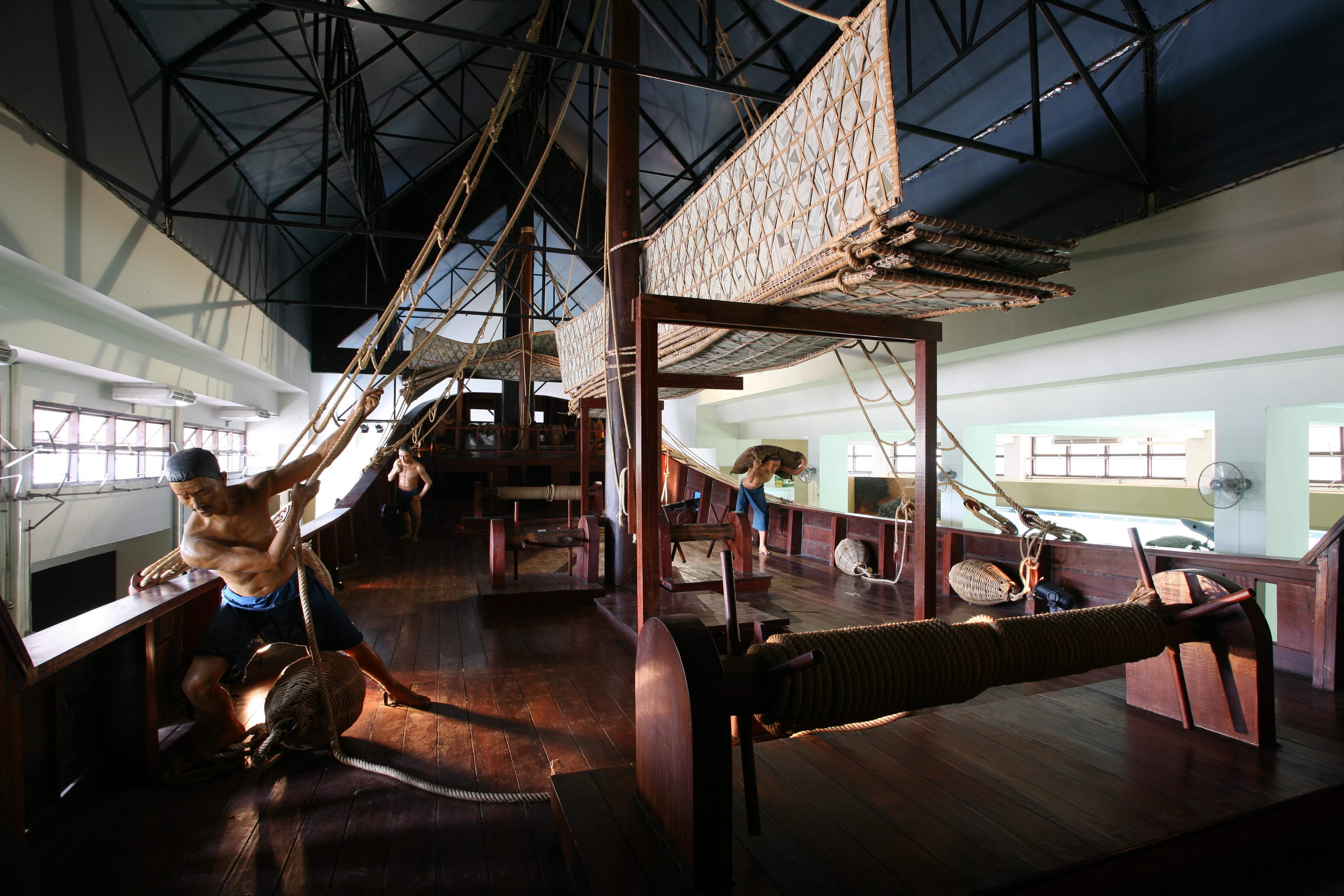พิพิทธภัณฑ์พานิชย์นาวี, เขาคิชฌกูฏ, พิพิทธภัณฑ์, เรือสำเภาจำลอง