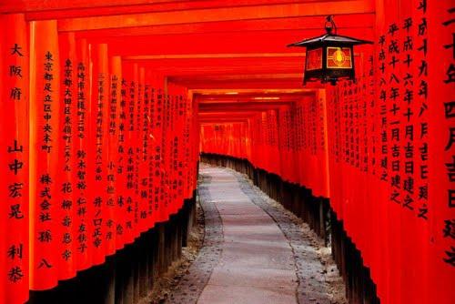 ศาลเจ้า, เทพเจ้าจิ้งจอก, ประตูโทริ, เกียวโต, ลัทธิชินโต, เมืองเกียวโต