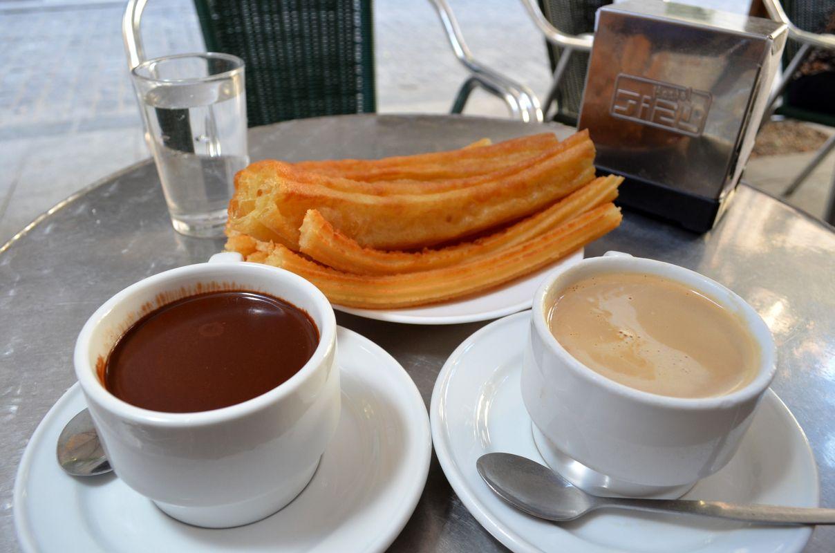 Churros, ช็อกโกแลต, ของหวาน, มาดริด, สเปน