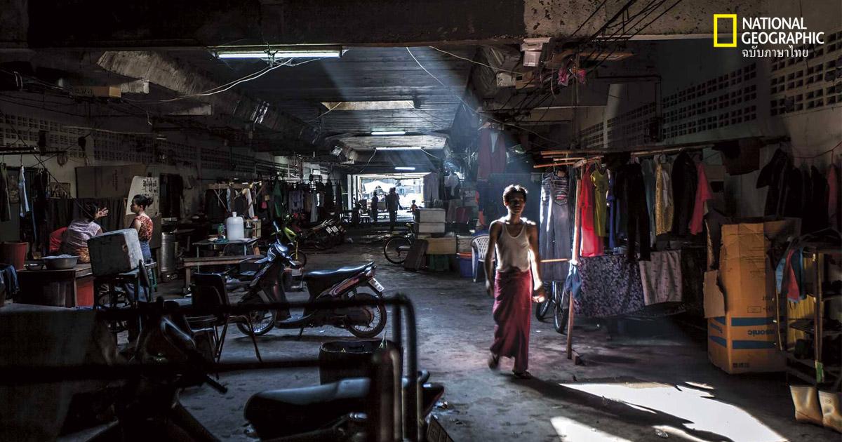 แรงงานพม่า, ตลาดกุ้ง, เมียนมาทาวน์, สมุทรสาคร