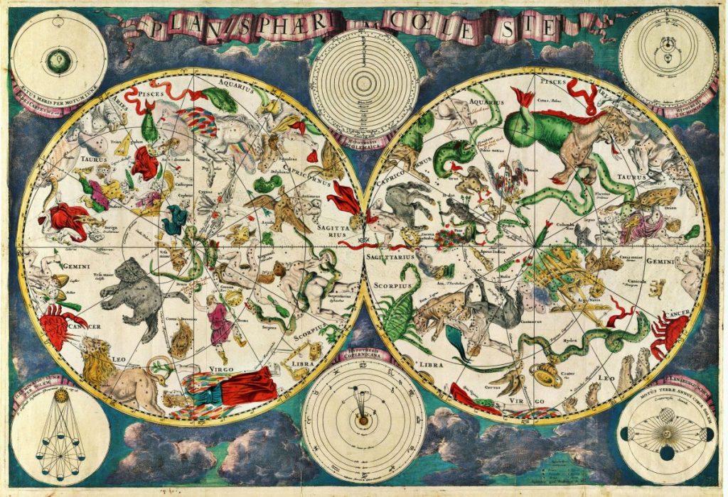 แผนที่ดวงดาว, กลุ่มดาว
