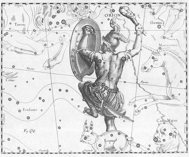 กลุ่มดาว, ดาวนายพราน, ดวงดาว,,