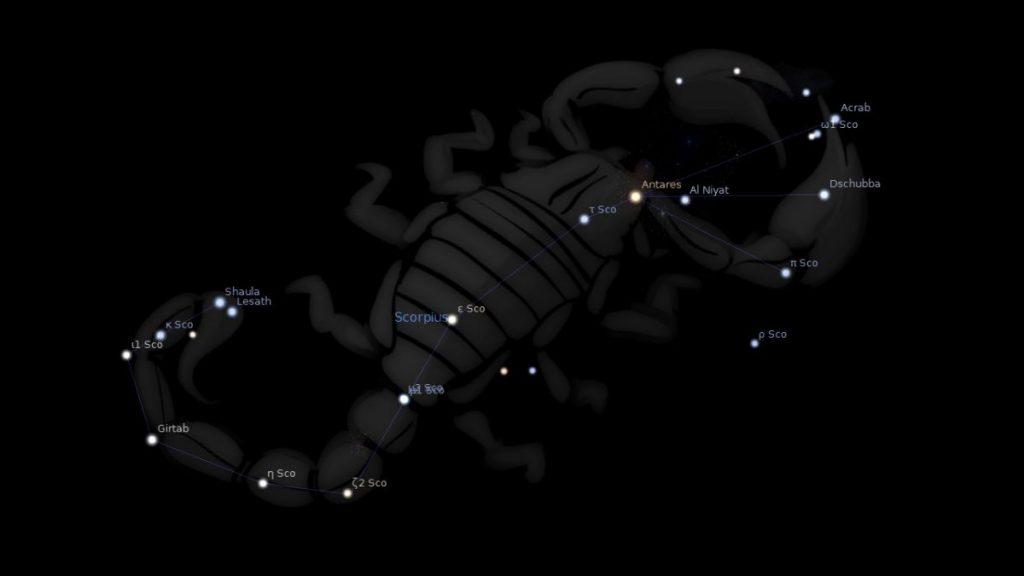 ดาวฤกษ์, กลุ่มดาว, กลุ่มดาวแมงป่อง