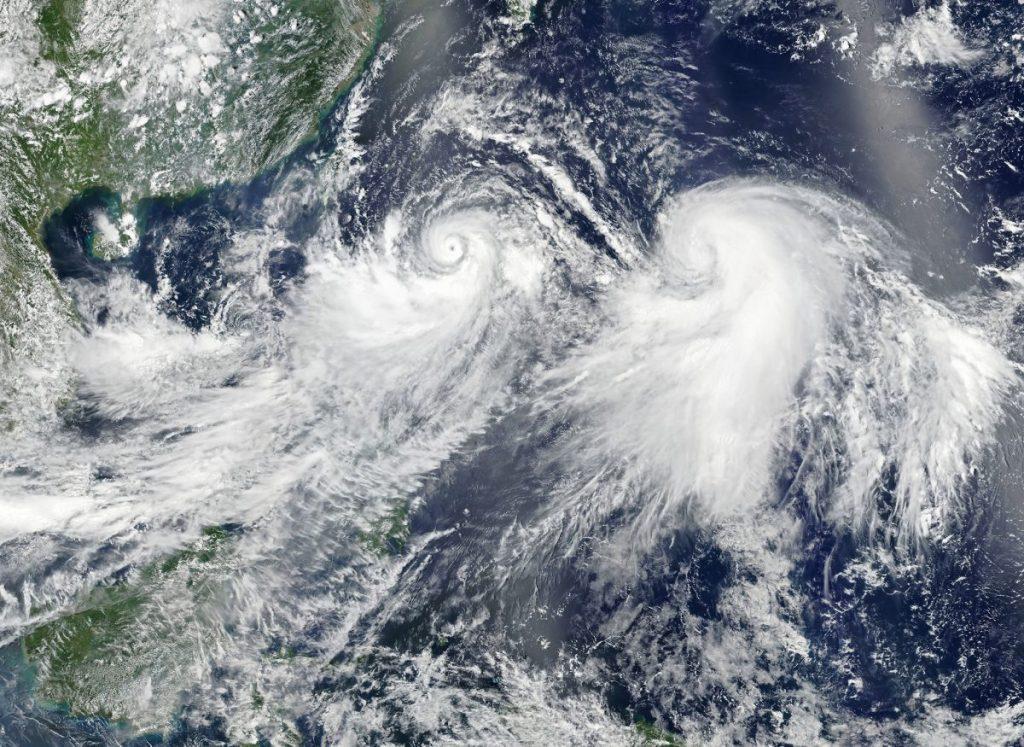 พายุไต้ฝุ่น, ประเภทของพายุ