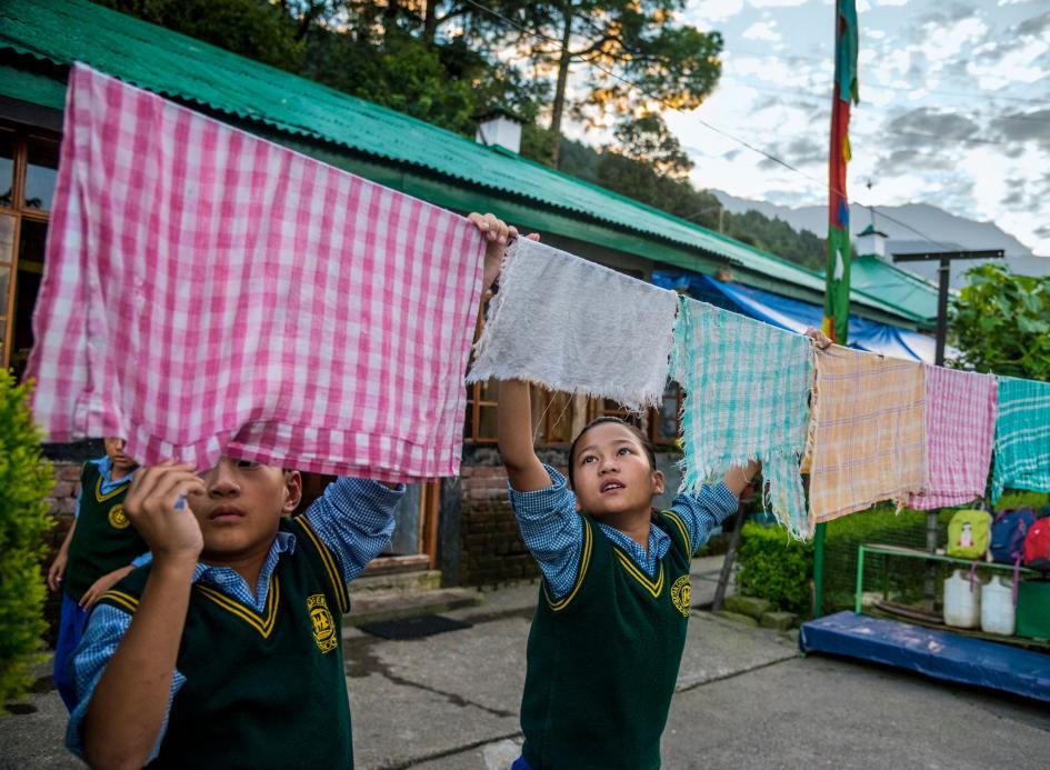 ช่างภาพหญิง, ทิเบต, ธรรมศาลา, หมู่บ้านเด็ก