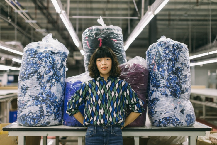 เศษผ้า, โรงงานจีน, โรงงานเสื้อผ้า, เศรษฐกิจหมุนเวียน