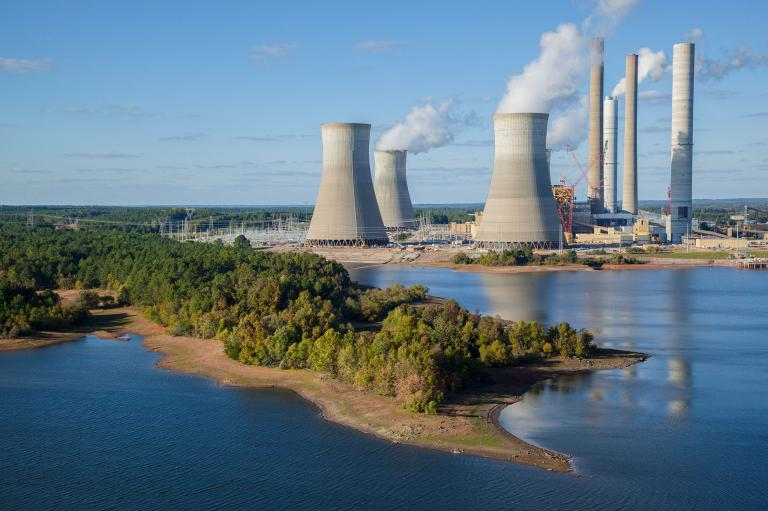 การเปลี่ยนแปลงสภาพภูมิอากาศ, โรงงานไฟฟ้า, ก๊าซเรือนกระจก