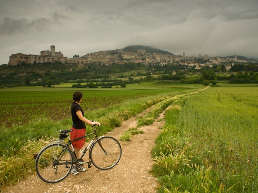 นักท่องเที่ยว, ปั่นจักรยาน, อิตาลี