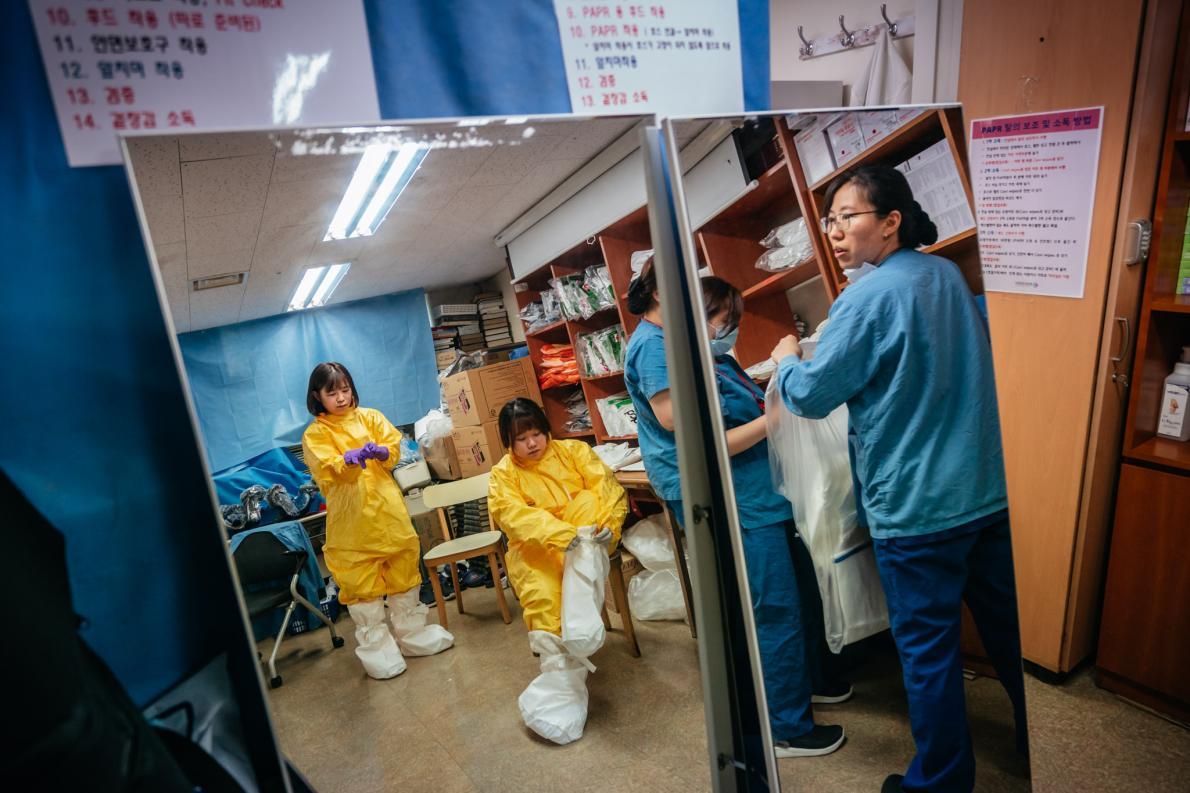 เกาหลีใต้, โควิด-19, การระบาด, มาตรการควบคุม, ชุดตรวจหาเชื้อ
