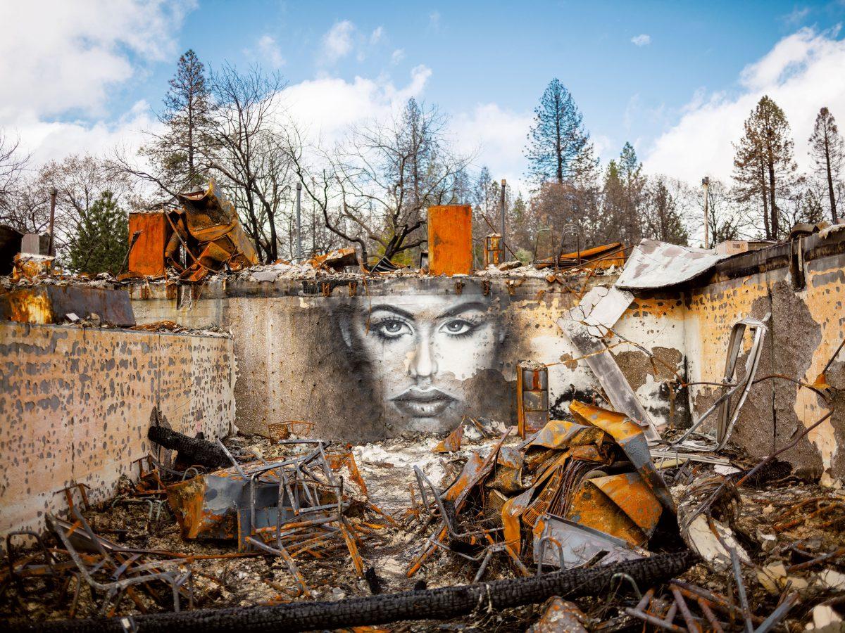 หายนะโลก, ศิลปะ, กราฟิตี้