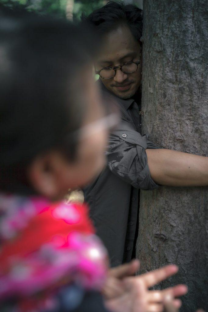 อาบป่า, โอบกอด, ต้นไม้, ความรู้สึก, อบอุ่น, กาญจนบุรี